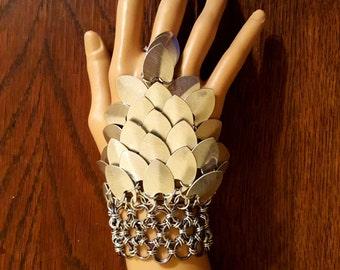 Scale Gauntlet/Slave Bracelet