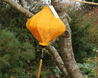 Royal Yelow Bamboo & Silk Lantern