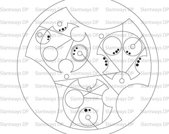 Custom Word or Phrase in Circular Gallifreyan - The Language of the Timelords!