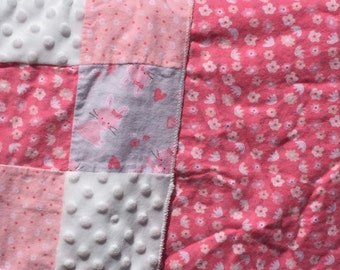 Pink Quilted Weighted Lap Pad