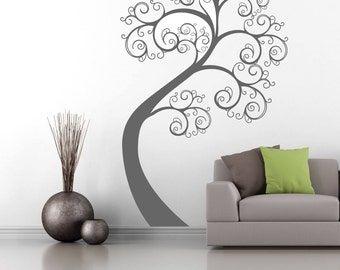 Wall Art Stickers - Tree Swirl Wall Art