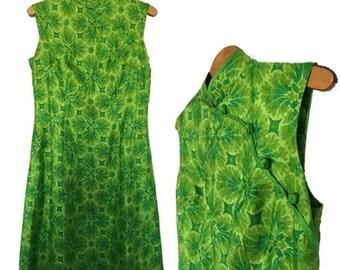 1960s Printed Silk Dress — 32 W