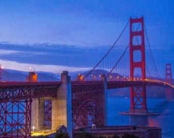 San Francisco Golden Gate Bridge Dusk 3
