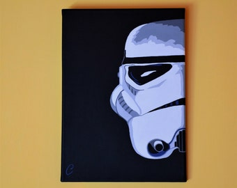 Star Wars hand made Stormtrooper painting, 25x35 cm
