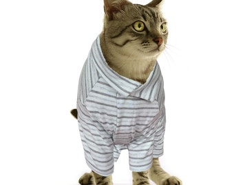 Custom Cat Pajamas Cat Clothes Pajamas for Cat in Multiple Sizes (L, M, S)