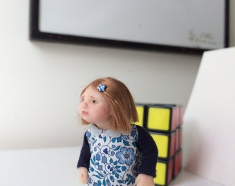 Doll miniature 1:12th hand made