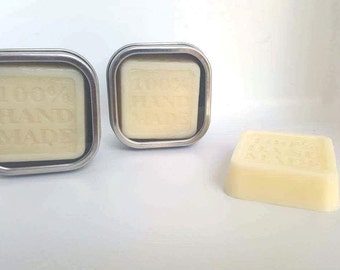 Solid Lotion Bar Handmade in Tin