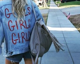 Girls Girls Girls - Vintage Levi Custom Denim Jacket