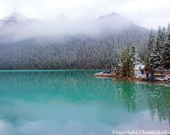 Lake Louise Digital Download Photography Instant Download Landscape Photography Winter Photography Fine Art Photography