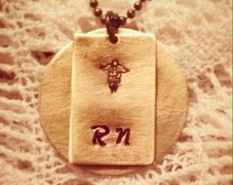 Registered Nurse Necklace & Bible Verse