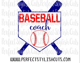 Baseball Coach SVG, DXF, EPS, png Files for Cutting Machines Cameo or Cricut - Sports svg, Coach svg