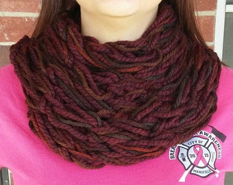 Fall colored cowl/infinity scarf