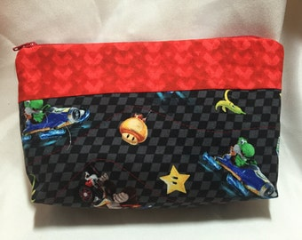 Nintendo Mario Kart Cosmetic/Make Up/Travel Bag