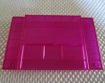 SNES Super Nintendo Replacement Cartridge Shell Translucent Purple