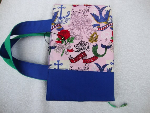 Fabric Book Covers With Handles : Fabric book cover with handles upcycle by