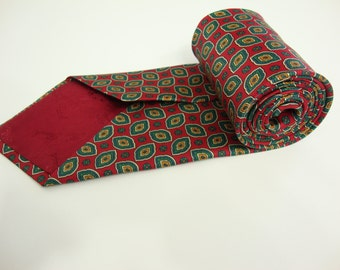 Vintage WINDSOR Floral Necktie Mens Paisley Tie  Made in ITALY Classic !!!