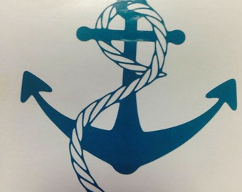 Anchor & Rope Decal