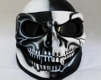 Helmet Skull 3D Airbrush Color White