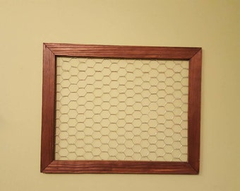Collage / Chicken Wire / Picture Frame Rustic Chicken Wire Vintage Collage