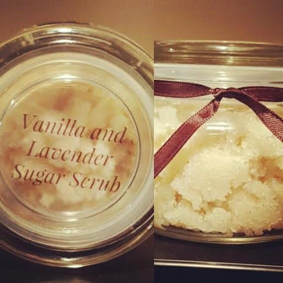 Vanilla and Lavender Sugar Scrub by ShearBeautybyAnna on Etsy