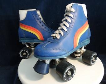 SPEEDY Quads Roller type California - Vintage Rollers - Rollers Disco blue - Speedy Disco Quads - Cruiser - Vintage roller Skate Dance