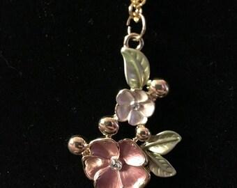 Large Multi Flower Necklace