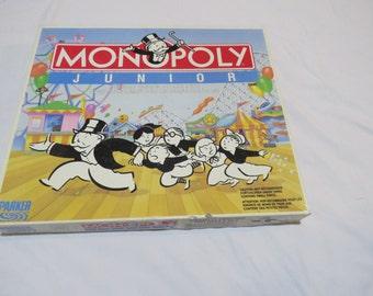 Vintage Monopoly Junior board game
