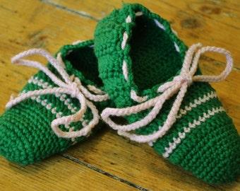 Kids handmade knit wool slippers