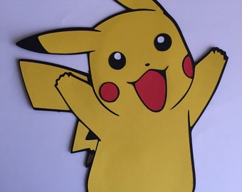 Pikachu Tall Card Stock Die Cut