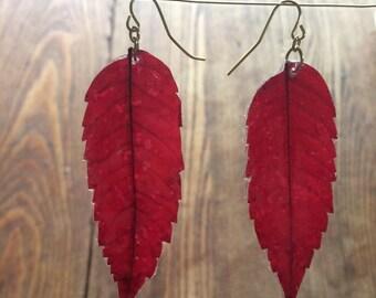 real leaf jewelry, real leaf earrings, botanical jewelry, botanical earrings, resin earrings