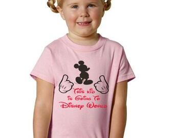 Kids Disney Shirt, Children's Disney Shirt, This kid is going to disney shirt, Mickey mouse shirt. Disney Mickey shirt