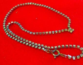 Vintage 1950s rhinestone necklace, vintage necklace, crystal necklace, rhinestone necklace, brides necklace, wedding jewelry, bride, bridal