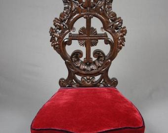 Antique French 19th Century Oak Prie Dieu