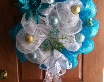Cool Blue Christmas Wreath...Get Yours Now!