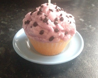 Strawberry & Vanilla Lilac Frosted Cupcake