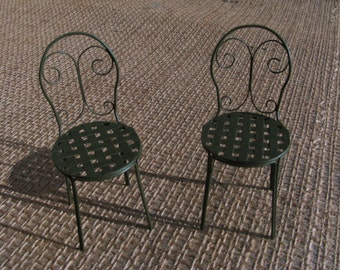 wrought iron chair (1/12 scale miniature)