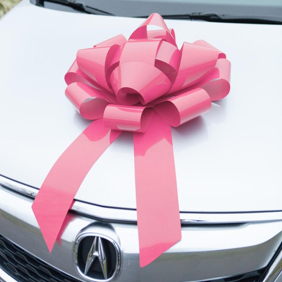 Car Bow Pink Magnetic Bows HUGE Premium Gift By