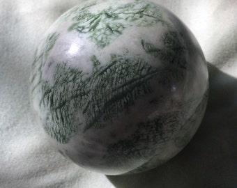 Natural Serpentine (New Jade) Sphere