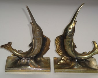 Metal Swordfish Bookends