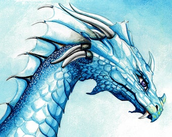 Umma the white dragon majestic and stunning