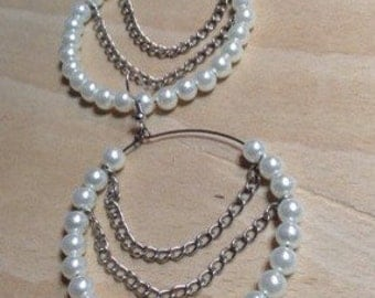 Bead and chain earring