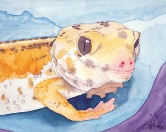 Albino Gecko - print only