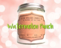 Watermelon Punch 8oz Scented Candle, candles, summer candle, fruit candle, girlfriend gift, gift idea, gift for her,summer scent, mom gift