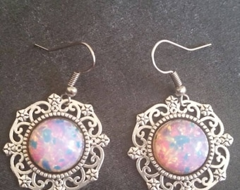 Fire opal earrings