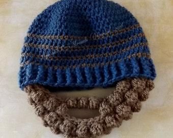 Knit Beard Hat Etsy