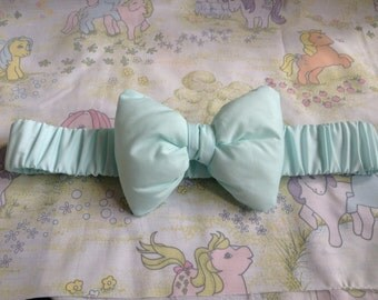 Mint green elasticated bow waist belt fairy kei Lolita decora