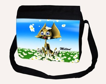 Big Shoulder Bag Milthon Flowers
