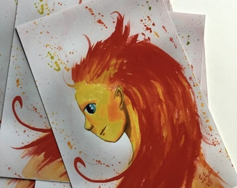 """Fire Element 4""""x6"""" digital print"""