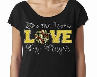 Like The Game Love My Player (Softball) Next Level Women's The Terry Dolman  Tshirt
