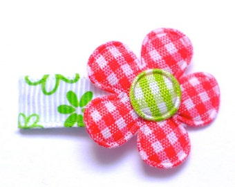 Barrette baby red-flowered